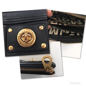 Marc By Marc Jacobs Bags - Marc by Marc Jacobs Black Gold Wallet Clutch